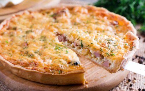 Quiche de presunto e queijo – 500g