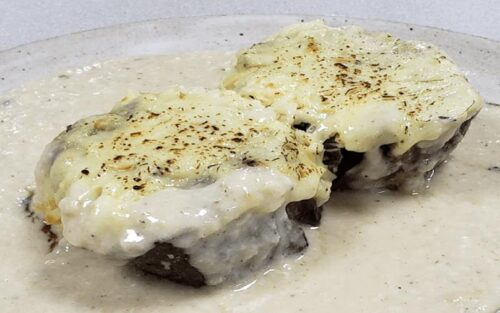 Filé mignon aos quatro queijos – 500g