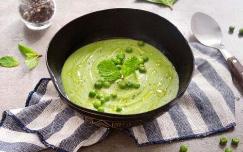 Sopa de ervilhas com espinafre – 500g