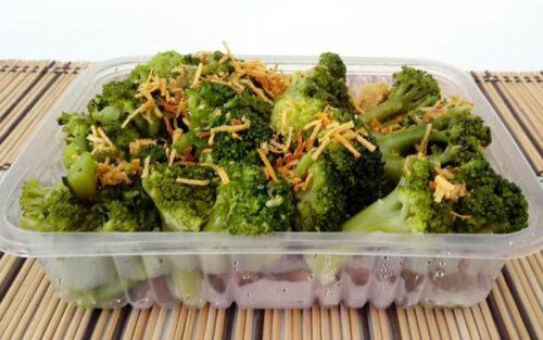 Maminha com brócolis ao alho e óleo – 500g