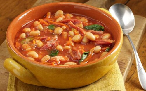 Sopa de legumes com feijão – 500g